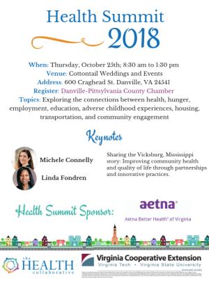 Health Summit Invitation graphic